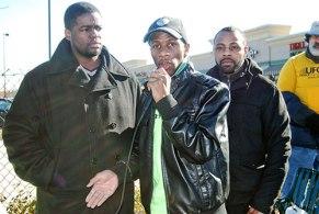 Walmart workers speak, Baltimore. WW photo: Sharon Black