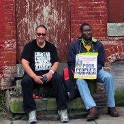 Boston activists, Alberto Barreto, Fred Floreal in Baltimore.