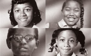 On Sept. 15, 1963, klansmen bombed the 16th Street Baptist Church in Birmingham, Ala., killing (top right, clockwise) Cynthia Wesley, 14; Carole Robertson, 14; Denise McNair, 11 and Addie Mae Collins, 14.
