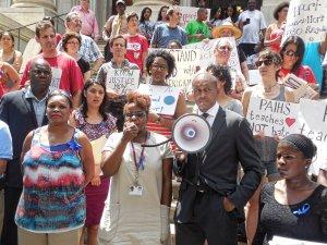 July 8 anti-racist rally, Manhattan.WW photo: Anne Pruden