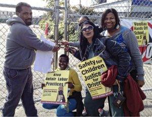 Boston drivers shut out Veolia in response to fraudulent bid Oct. 19.WW photo: Stevan Kirschbaum