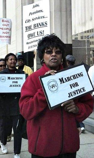 Protest against Detroit's bankruptcy, Oct. 15.WW photo: Kris Hamel