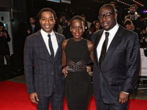 Chiwetel Ejiofor, Lupita Nyong'o and Steve McQueen