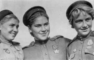 Red Army snipers, Leningrad 1944: Snipers Faina Yakimova, Roza Shanina and Lidia Volodina