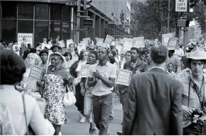 Poor People's March at Lafayette Park and Connecticut Avenue in Washington, D.C., June 1968.
