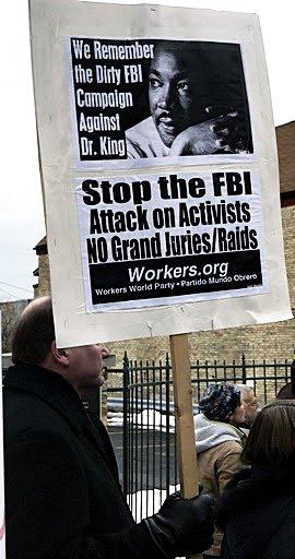 Sign at Milwaukee protest, January 2012.WW photo: Bryan G. Pfeifer