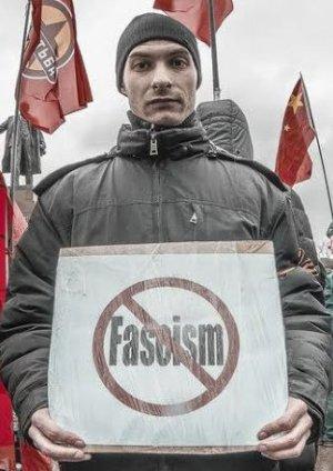 Protest in Kharkov, Ukraine, in April 2014.