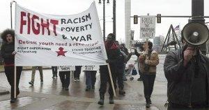 April 4 protest.WW photo: Kris Hamel