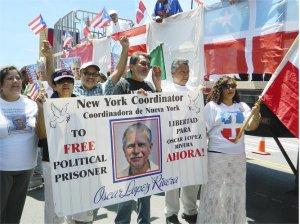 'Free Oscar López!'WW photo: Anne Pruden