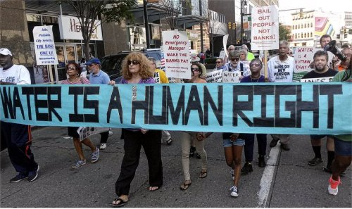 Detroit's Freedom Friday fights for water.WW photo: Abayomi Azikiwe
