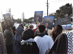 Palestine solidarity demonstration in West Bloomfield faces off Zionists.WW photo: Abayomi Azikiwe