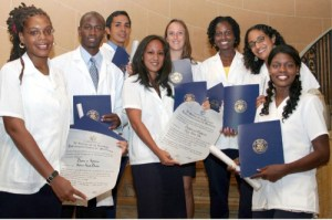 The first debt-free U.S graduates of Cuba's Latin American School of Medicine.