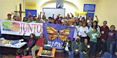 Solidarity caravan stops in Philadelphia, Oct. 11.WW photo: Joseph Piette