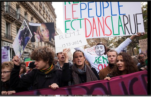 Paris youth say: 'Rémi: The people are in the streets!'