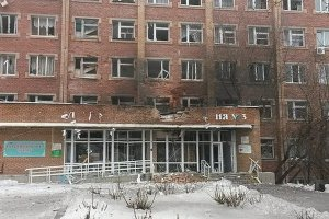 Donetsk Third City Hospital bombed by Ukraine on Jan. 19, killing one and injuring five.Photo: Novorossia.su