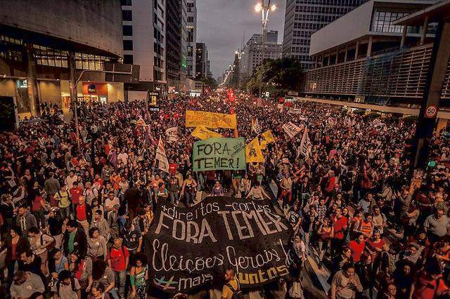 100,000 demonstrate in Sao Paulo on Sept. 4, demanding 'Temer out!'