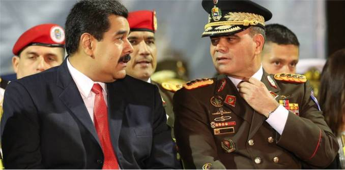 Venezuela's President Nicolas Maduro, left, with his Defense Minister Gen. Vladimir Padrino.