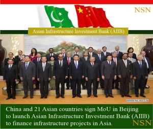 China and 21 Asian countries launch Asian Infrastructure Investment Bank.