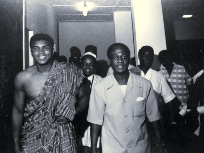 Muhammad Ali and President Kwame Nkrumah.