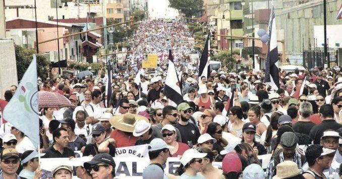 Avenida Segunda, in Costa Rica's capital of San José, April 26.