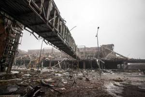 The Donetsk airport on Jan. 21, 2015.