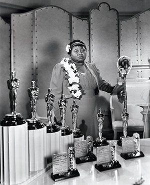 Hattie McDaniel at 1940 Academy Awards ceremony.