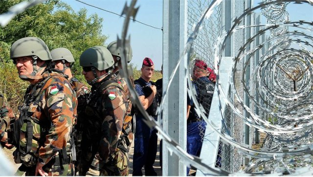 On the Hungarian border.