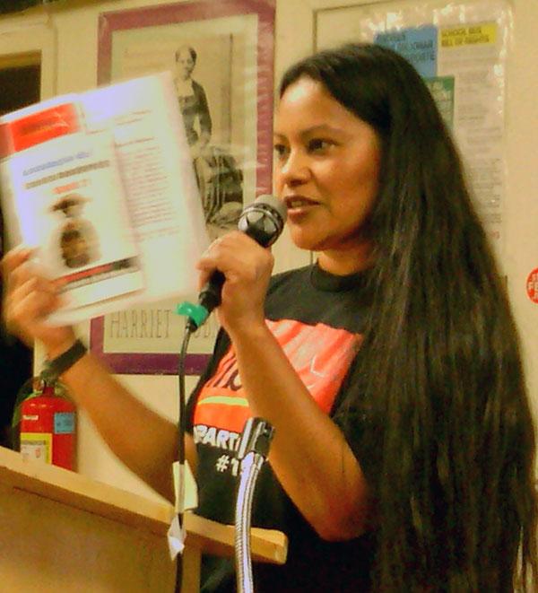 Lucy Pagoada, Honduras USA Resistencia.WW photo: Alex Majunder