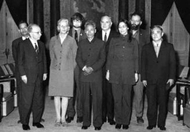 Levins, in Hanoi, 1970. (Back row, far right)