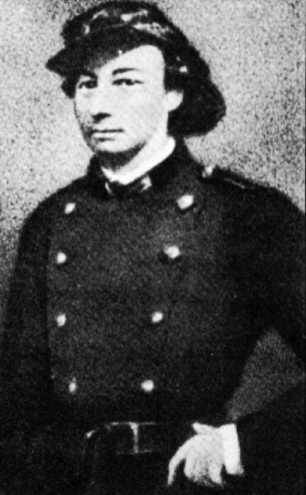 Louise Michel in her military uniform.