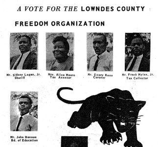 Lowndes County Freedom Organization slate of candidates in the November election. Alabama, 1966.