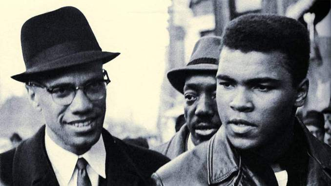 Malsolm X and Muhammad Ali