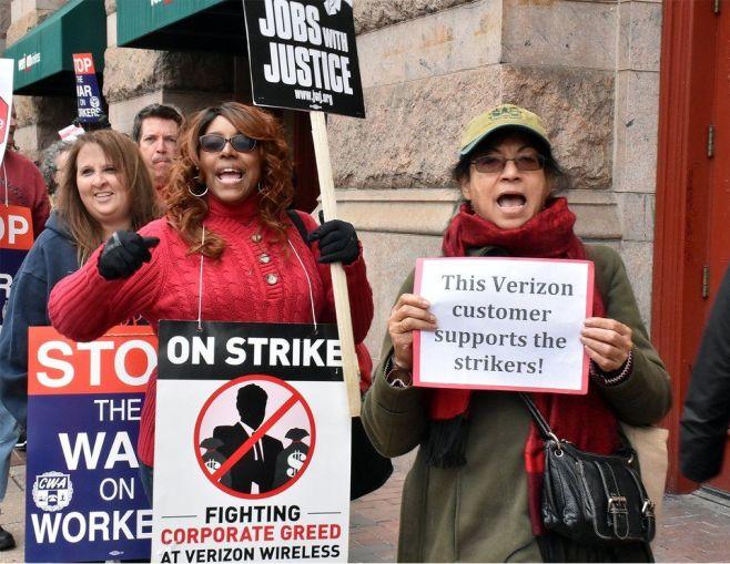 Philadelphia community support for strikers.