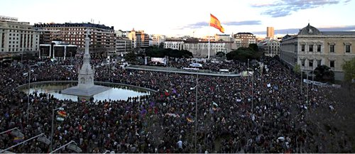 On March 22, 2014, more than a million people from all over the Spanish state marched in Madrid for 'Dignity' against austerity.