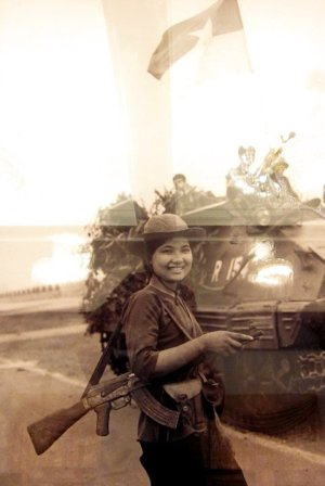 April 30, 1975: Guerrilla Nguyen Trung Kien guides the libreation army to attack the Presidential Palace.