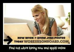 Weekly Work at home Job Leads