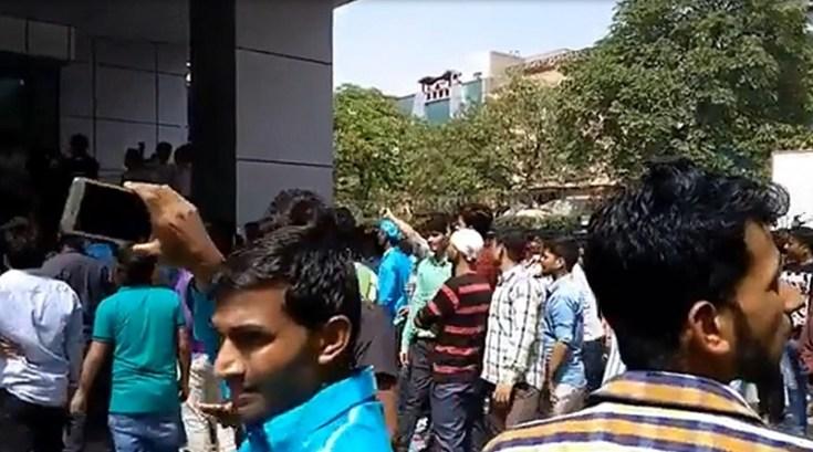 hipad noida workers riot