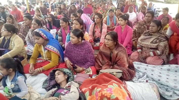 rudrapur interarch workers protest