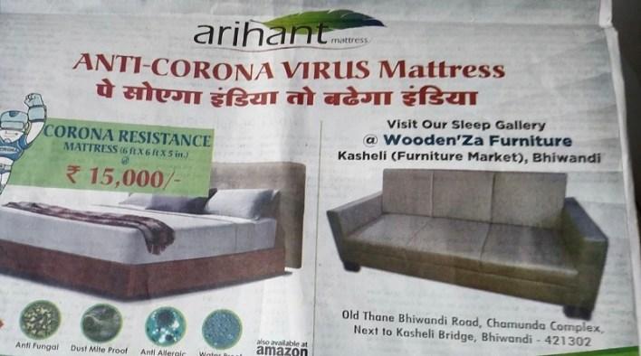 corona virus mattress add