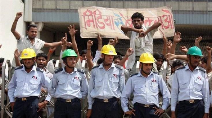 maruti workers strike in manesar plant