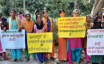 protest against hathras gang rape in uttrakhand