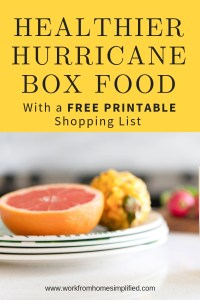 WW Friendly Hurricane Shopping List