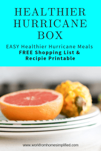 Healthier Hurricane Food