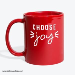Red Coffee Mug with Choose Joy Saying
