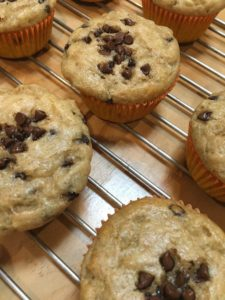 Choclate Chip Banana Muffins