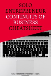 Work From Home Continuity of Business Must Do's
