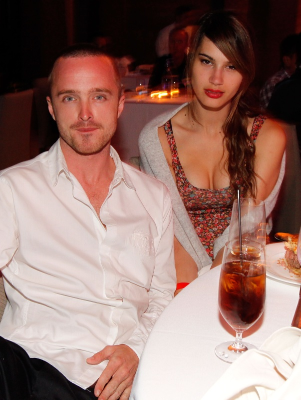 Aaron Paul and Jacqueline Novak