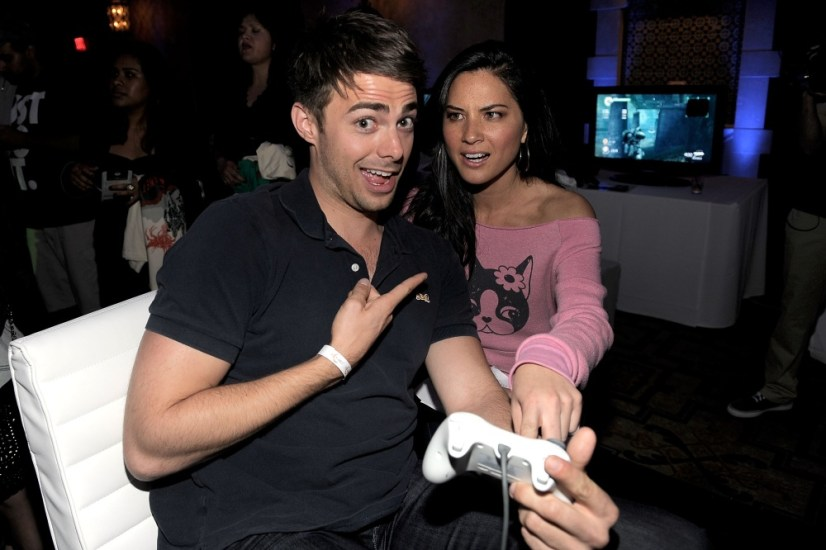capcom-lost-planet-2-launch-party-jonathan-bennett-olivia-munn