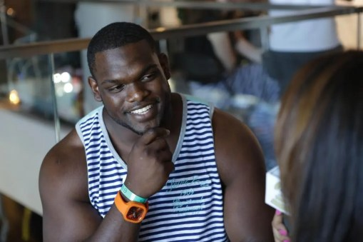 Geno Atkins at the GBK Pre-ESPY Award Lounge 2013