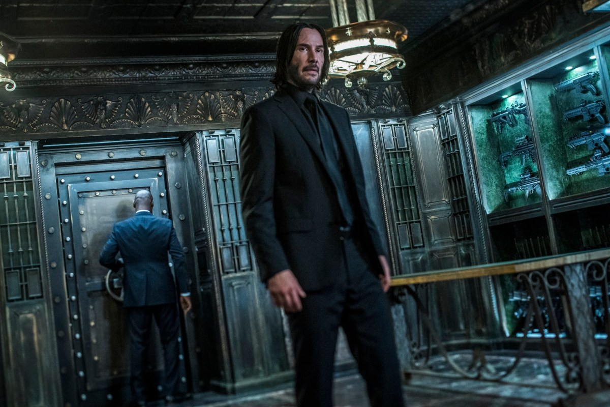 John Wick in armory of The Continental.